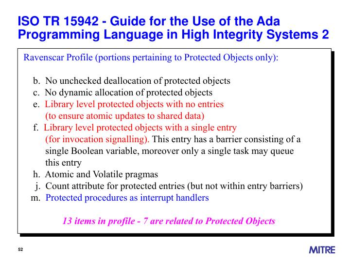 ISO TR 15942 - Guide for the Use of the Ada Programming Language in High Integrity Systems 2