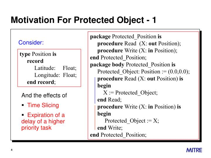 Motivation For Protected Object - 1