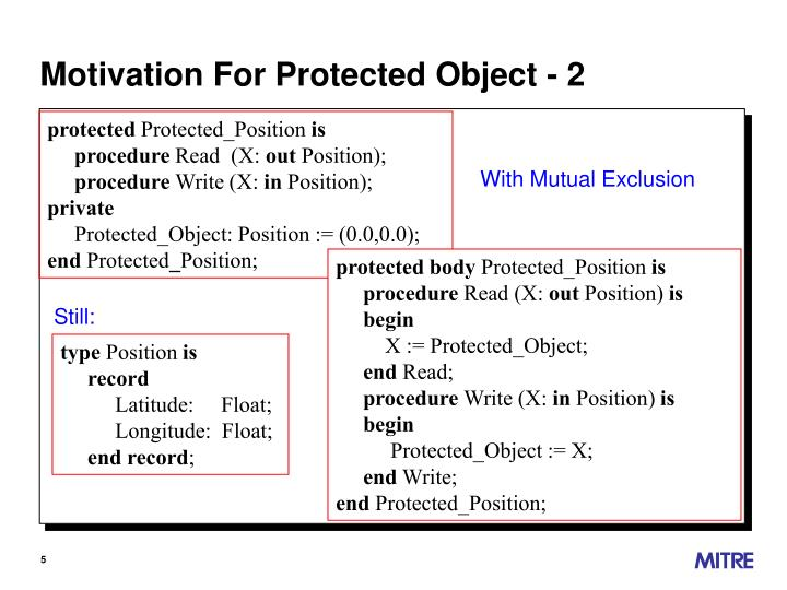 Motivation For Protected Object - 2