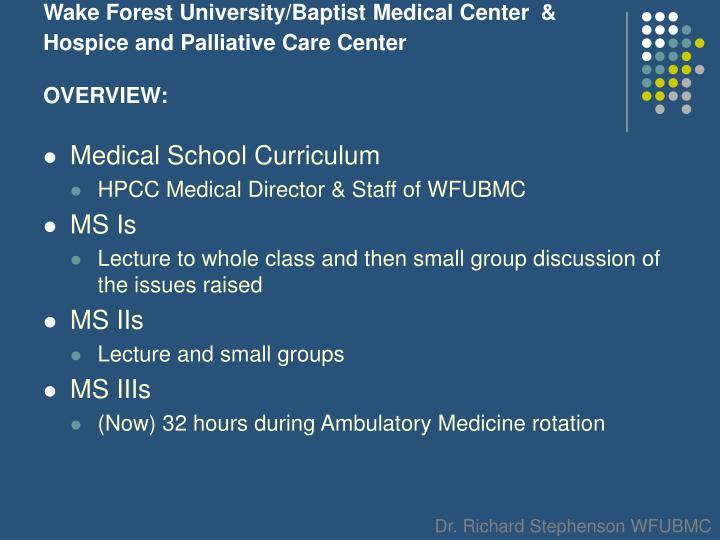 Wake Forest University/Baptist Medical Center