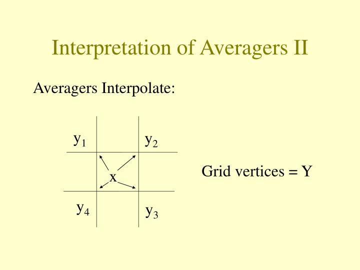 Interpretation of Averagers II