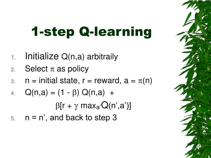 1-step Q-learning
