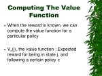 computing the value function