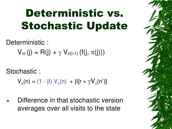 Deterministic vs. Stochastic Update