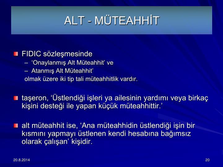 ALT - MTEAHHT