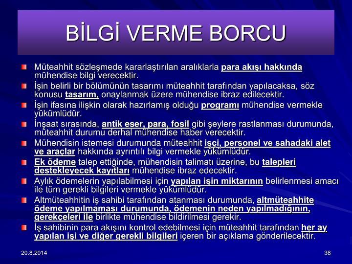BLG VERME BORCU