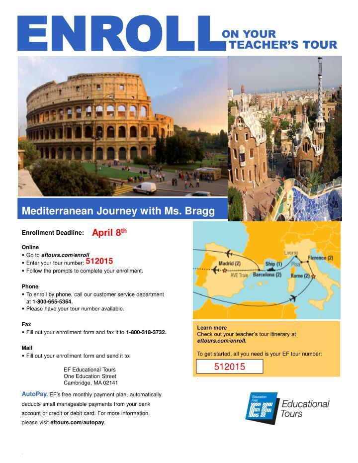 Mediterranean Journey with Ms. Bragg