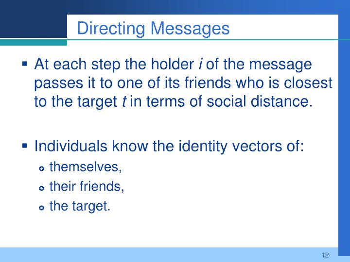 Directing Messages