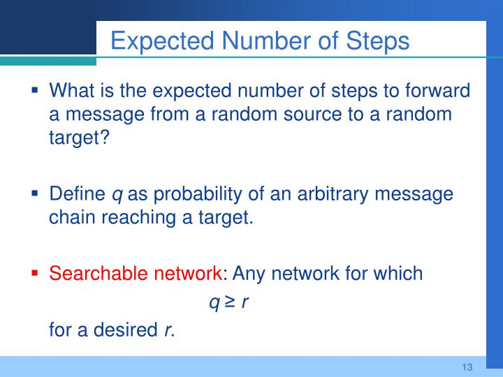 Expected Number of Steps