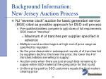 background information new jersey auction process