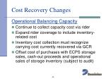 cost recovery changes2