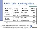 current state balancing assets