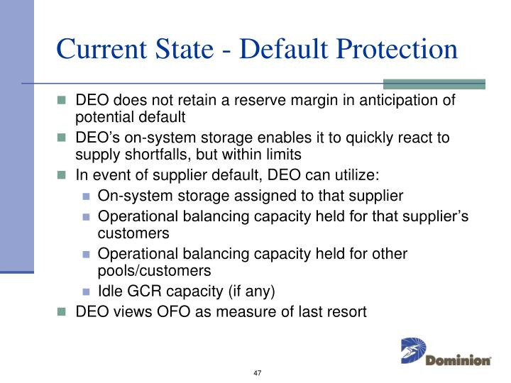 Current State - Default Protection