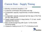 current state supply timing