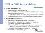 deo vs sso responsibilities