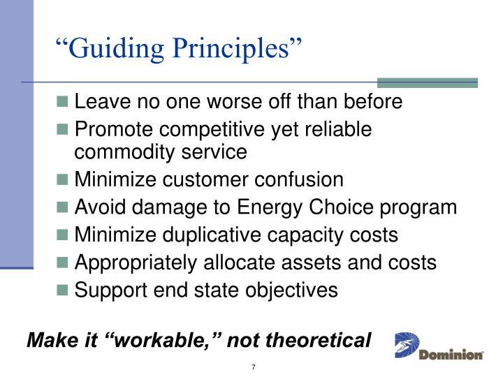 """""""Guiding Principles"""""""