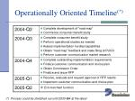 operationally oriented timeline