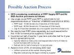 possible auction process