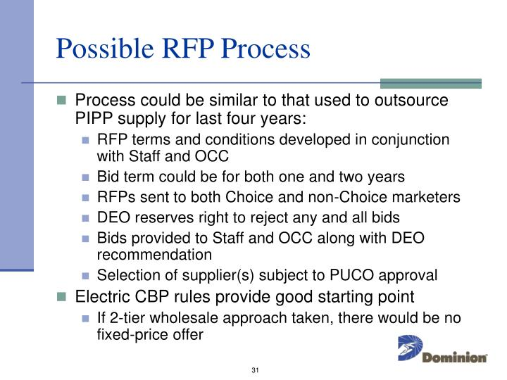 Possible RFP Process