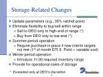 storage related changes