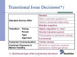 transitional issue decisions