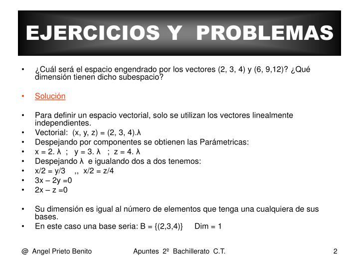 EJERCICIOS Y  PROBLEMAS