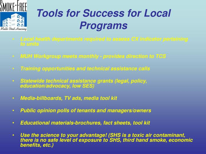 Tools for Success for Local Programs