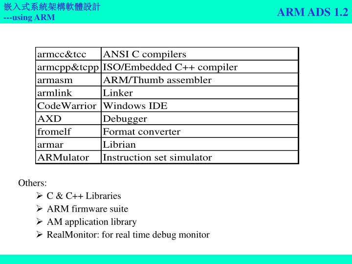 ARM ADS 1.2
