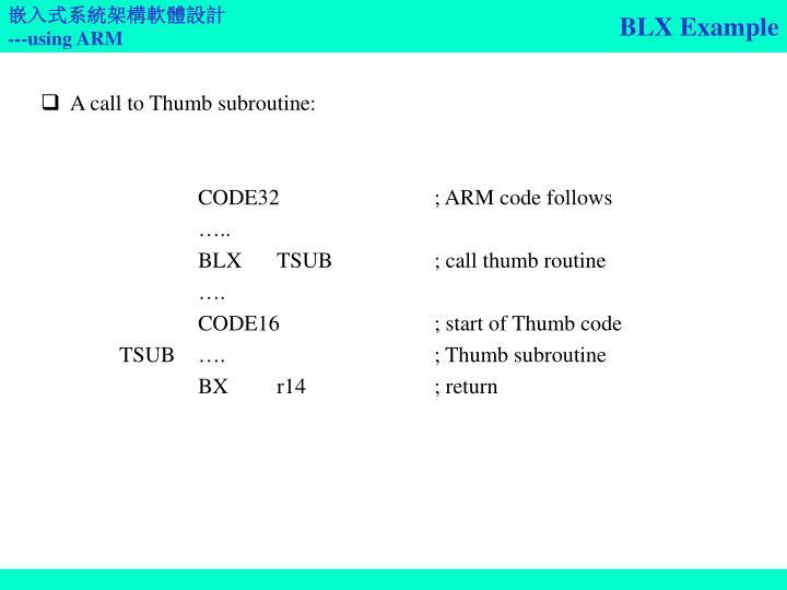 BLX Example