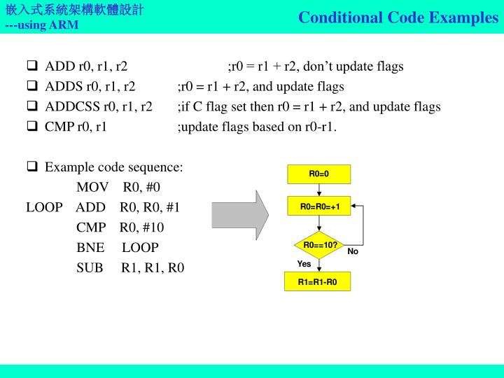 Conditional Code Examples