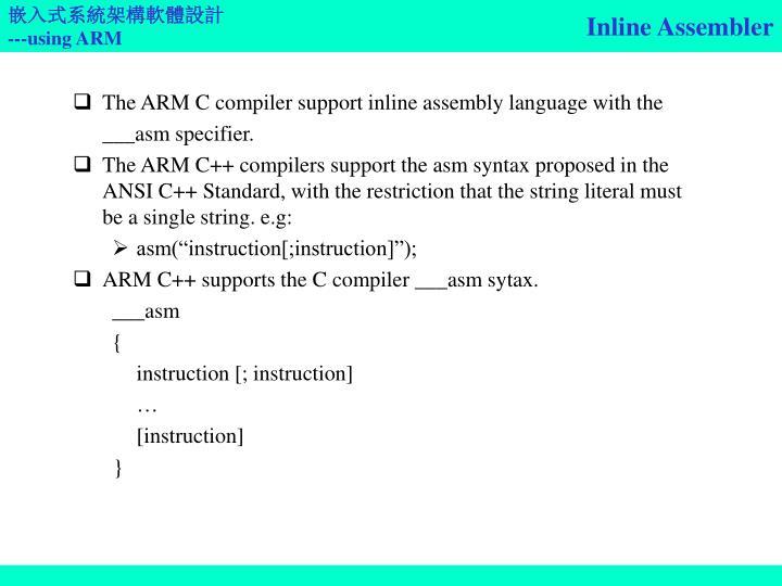 Inline Assembler