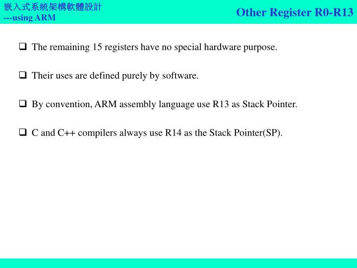 Other Register R0-R13
