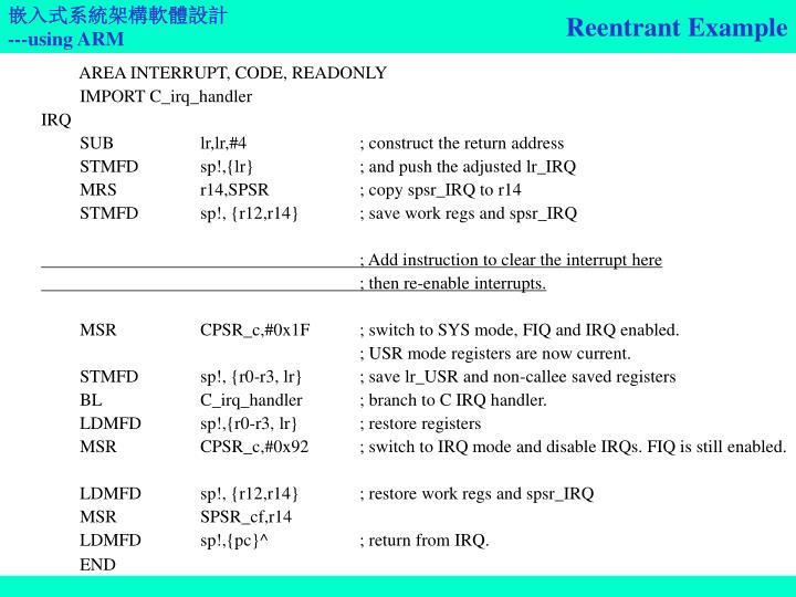 Reentrant Example