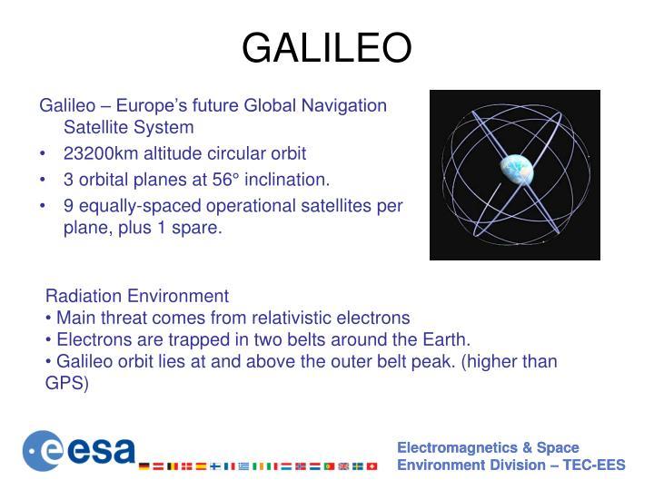Galileo – Europe's future Global Navigation Satellite System