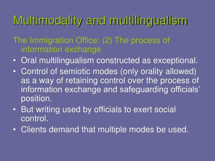 Multimodality and multilingualism