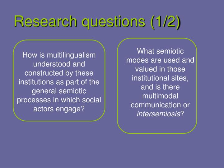Research questions (1/2)