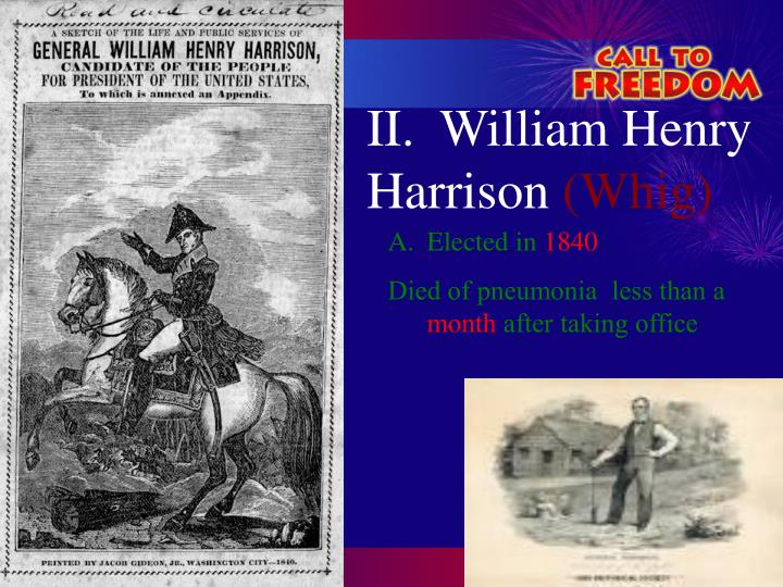 II.  William Henry Harrison