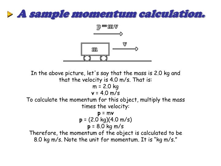 A sample momentum calculation.