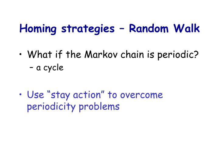 Homing strategies – Random Walk