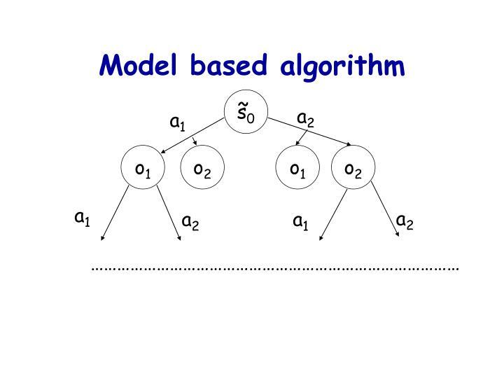 Model based algorithm