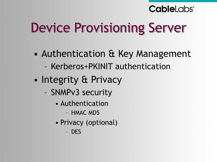Device Provisioning Server