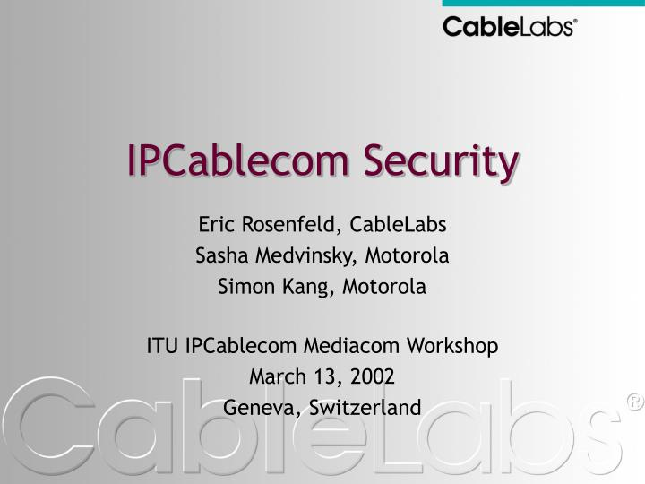 IPCablecom Security