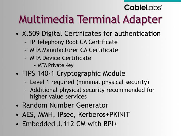 Multimedia Terminal Adapter