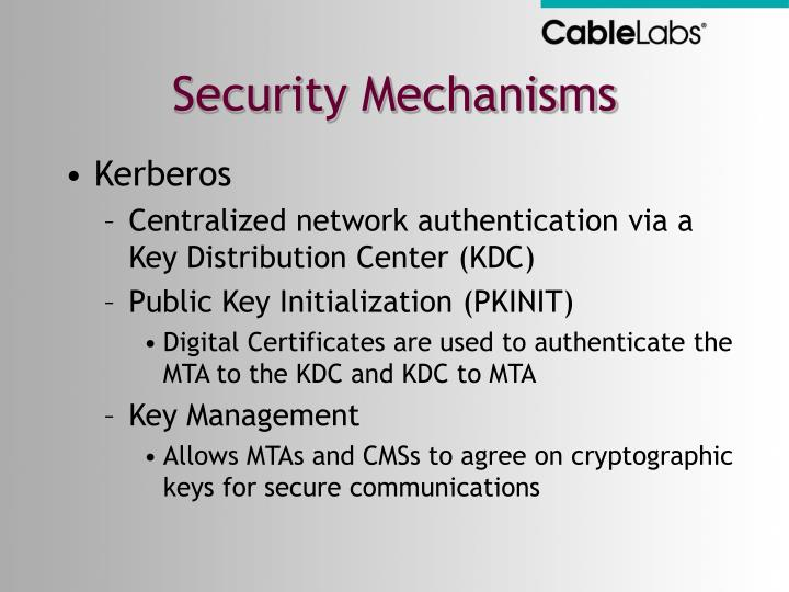 Security Mechanisms