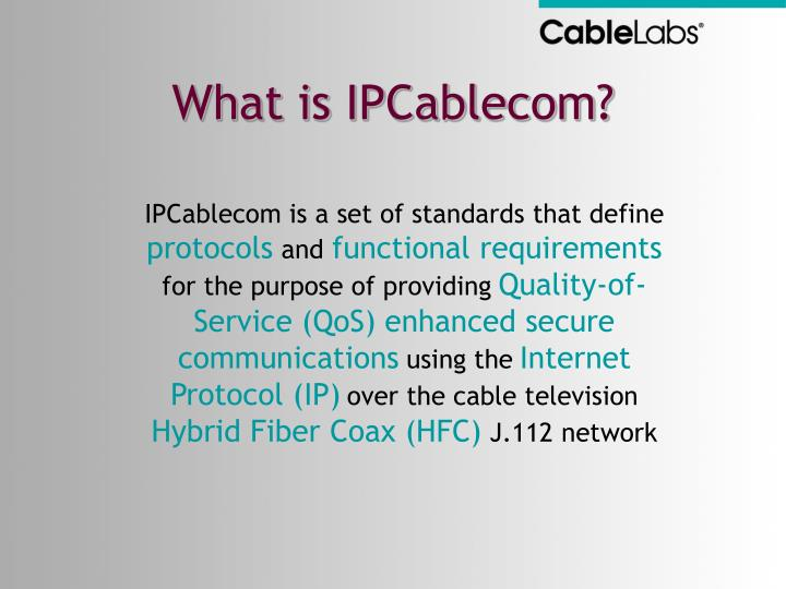 What is IPCablecom?