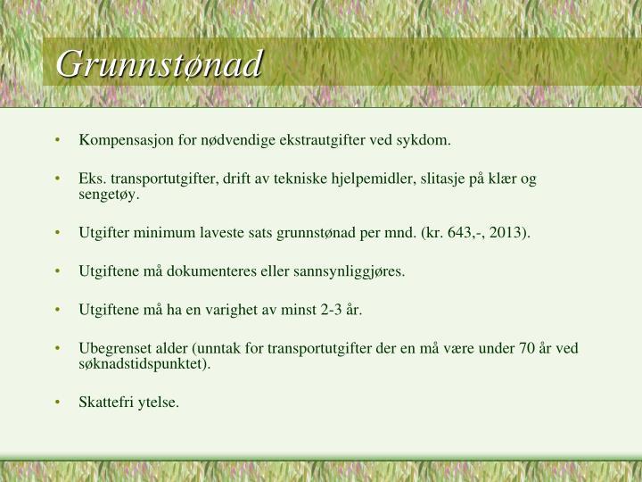 Grunnstønad