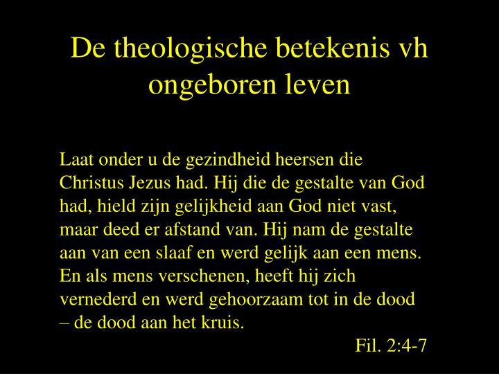 De theologische betekenis vh