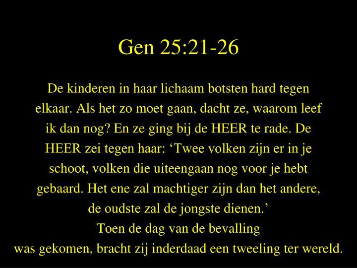Gen 25:21-26