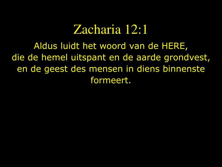 Zacharia 12:1