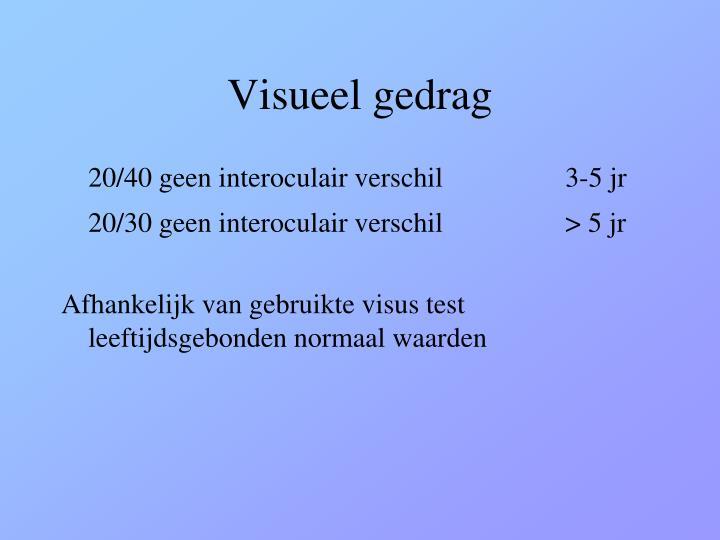 Visueel gedrag